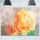 Yellow Rose Watercolor Floral Canvas Art Print