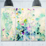 Color Splatter Abstract Canvas Art Print
