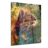 thoughtful lion cub animal canvas art print PT6393