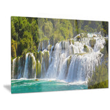 waterfall krka panorama landscape photography canvas print PT6409
