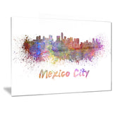 mexico city skyline cityscape canvas print PT6419
