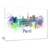 paris skyline cityscape canvas art print PT6425