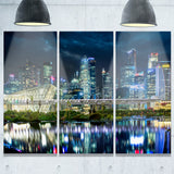 singapore financial district  cityscape photo canvas print PT6433