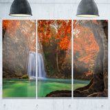 Erawan Waterfall Photography Canvas Art Print