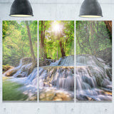 Kanchanaburi Waterfall Photography Canvas Art Print