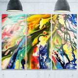 mixed oil color texture abstract canvas art print PT6515