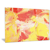 yellow and red abstract art abstract canvas print PT6516