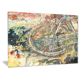 mountain bike oil painting canvas art print PT6529