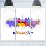 newcastle skyline cityscape canvas art print PT6550