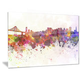 san francisco skyline cityscape canvas artwork print PT6561