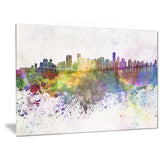 vancouver skyline cityscape canvas artwork print PT6570