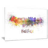halifax skyline cityscape canvas artwork print PT6577