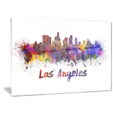 los angeles skyline cityscape canvas artwork print PT6582