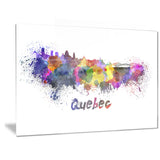 quebec skyline cityscape canvas artwork print PT6584
