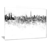 dubai skyline cityscape canvas artwork print PT6586