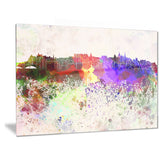 edinburgh skyline cityscape canvas artwork print PT6606