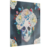 watercolor vector skull floral digital canvas art print PT6630