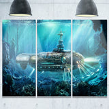 fantastic submarine digital canvas art print PT6641