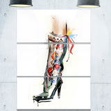 decorative shoe digital canvas art print PT6646