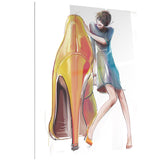 girl in love with high heel shoes digital canvas print PT6692