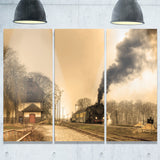 retro steam train landscape photography canvas print PT6707