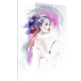 purple woman portrait contemporary artwork PT6712