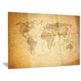 vintage classic map contemporary canvas art print PT6718