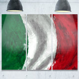 italy flag contemporary canvas art print PT6726