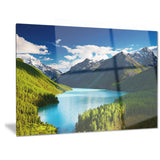 mountain lake in dark shade landscape photo canvas art print PT6734
