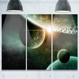 space planet illustration contemporary canvas art print PT6738