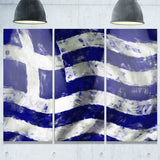 flag of greece contemporary canvas art print PT6746