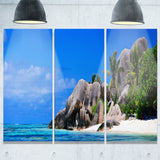 seychelles beach panorama landscape photo canvas print PT6770