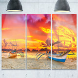 boat at sunset panorama landscape canvas art print PT6773