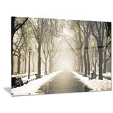 fog in alley vintage style landscape photo canvas print PT6778