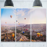 hot air balloon flying photography canvas art print PT6788