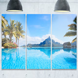 bora bora landscape photography canvas art print PT6804