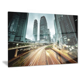 traffic in hong kong at sunset cityscape photo canvas print PT6817