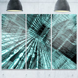 binary code contemporary art canvas print PT6849