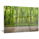 room interior in forest landscape contemporary canvas art print PT6862