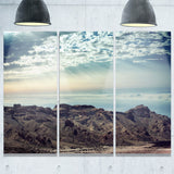 remote mountains in morning contemporary canvas art print PT6887