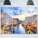 grand canal panorama landscape photo canvas print PT6889