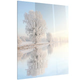 frosty winter tree by rising photo canvas art print PT6927