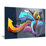 direction street art graffiti canvas art print PT6958