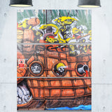 street art mural wall graffiti canvas art print PT6972