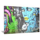 mural wall art street canvas art print PT6974