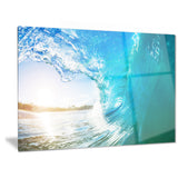 blue waves arch seascape photo canvas art print PT6991