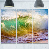 ocean turning green seascape canvas art print PT6995