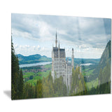 castle neuschwan landscape photo canvas print PT7016