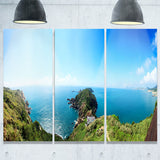 seascape view from hillside photography canvas print PT7054