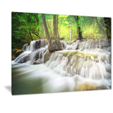 level five of erawan waterfall landscape canvas print PT7100